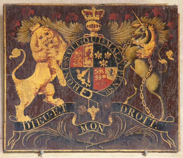 All Saints, Sharrington - Royal Arms