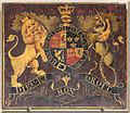 TG0336 : All Saints, Sharrington - Royal Arms by John Salmon