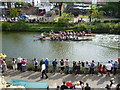 TQ5846 : Dragon Boat Racing on the River Medway by Marathon