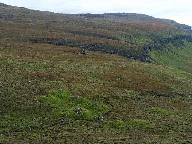 Shielings above Creag a' Ghaill, Ardmeanach, Isle of Mull