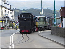 SH5738 : WHR train leaving Porthmadog Station by Gareth James