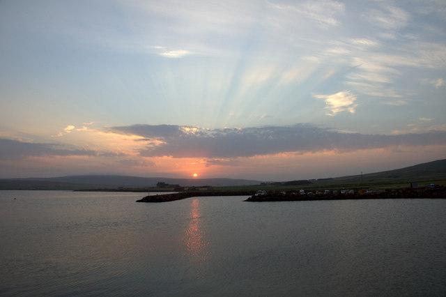 Sunset at Baltasound