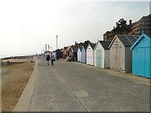 TM3034 : Beach huts at Felixstowe by Adrian S Pye