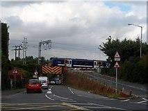 TM0932 : Bridge and level crossing near Manningtree Station by Bikeboy