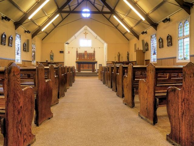 St Antony's Church - Inside the Tin Tabernacle (1)