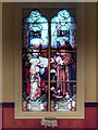 SJ7996 : St Antony's Church - Inside the Tin Tabernacle - Stained Glass Window by David Dixon