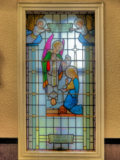 St Antony's Church - Inside the Tin Tabernacle - Stained Glass Window