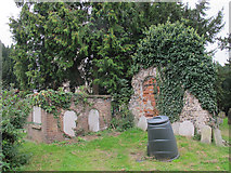TG1022 : All Saints, Hackford: ruins by Stephen Craven