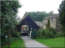 SD9772 : St. Mary, Kettlewell: lych gate by Basher Eyre