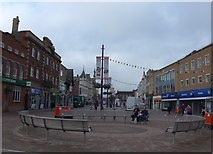 SK5319 : Market Place, Loughborough: mid September 2014 by Basher Eyre