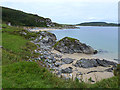 NR3444 : Shoreline to the north of Carraig Fhada Lighthouse by Oliver Dixon
