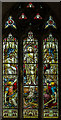 TF0897 : Stained glass window, St Luke's church, Holton le Moor by J.Hannan-Briggs