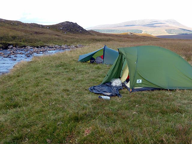 Wild camping beside Allt a' Chaoil-rèidhe