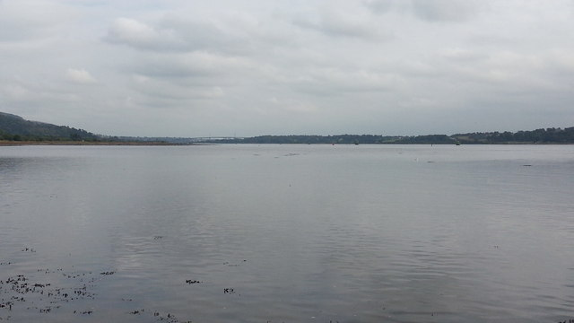 River Clyde at high tide from Dumbarton Castle