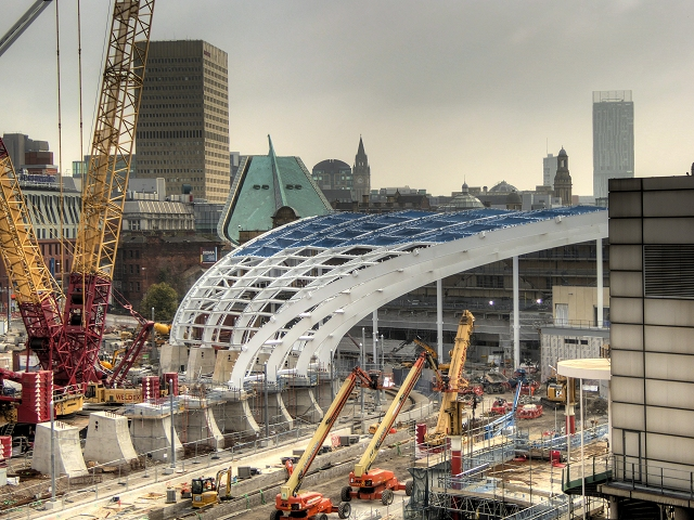 Manchester Victoria Station Construction Site - September 2014