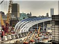 SJ8499 : Manchester Victoria Station Construction Site - September 2014 by David Dixon