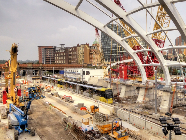 Construction Site at Manchester Victoria Station (Sept 2014)