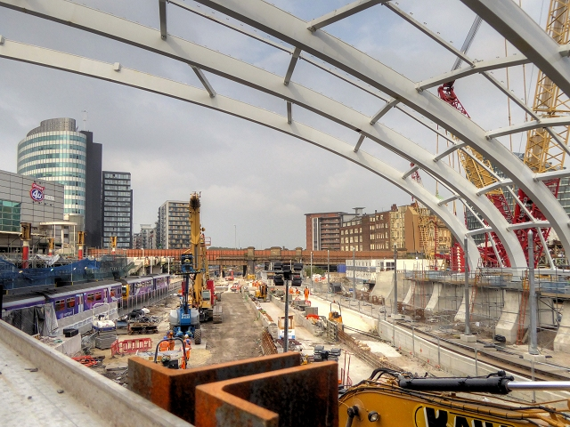 Construction Site at Manchester Victoria Station, Sept 2014