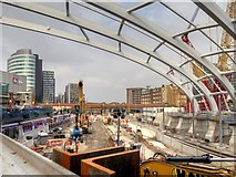 SJ8499 : Construction Site at Manchester Victoria Station, Sept 2014 by David Dixon