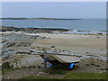 NR2874 : Beach and boat on the Ardnave peninsula by Oliver Dixon