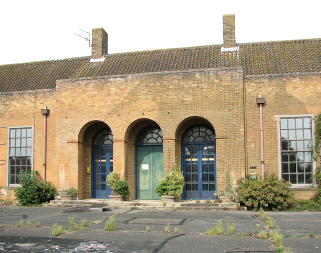 Entrance to the former Officers' Mess