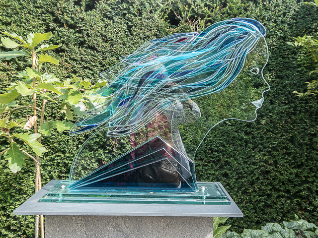 Glass Sculpture, Royal Horticultural Society Garden, Wisley, Surrey