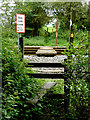 SP1658 : Footpath crossing the railway near Wilmcote, Warwickshire by Roger  Kidd