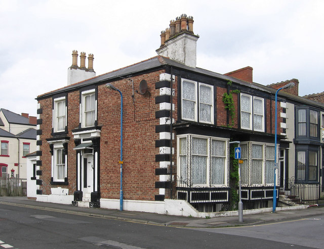 Hartlepool - house at corner of Scarborough Street