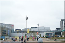 TQ3884 : View of Westfield Stratford City and Aspers Casino from the walkway leading to the Olympic Park by Robert Lamb