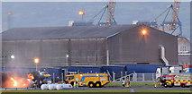 J3675 : Rescue exercise, Belfast City Airport - September 2014(1) by Albert Bridge