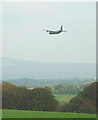 SD5770 : Military transport plane flying up the Lune Valley by Karl and Ali