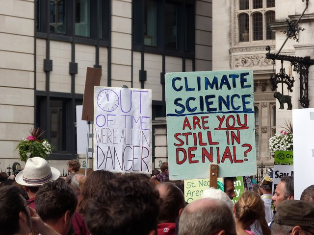 Placards, Climate Change demonstration