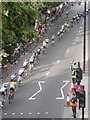 TQ3080 : London: looking down on a cycle race by Chris Downer