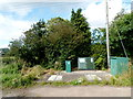 ST4970 : Utilities boxes near Brook Farm by Jaggery