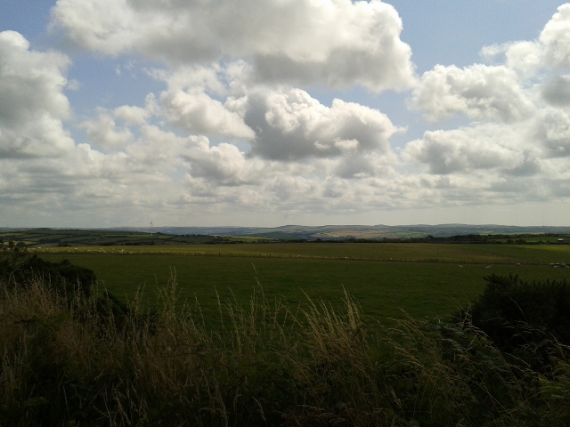 View of St Breok Downs