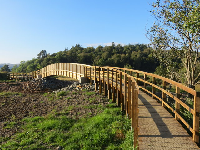 New footbridge over Strathlachlan River