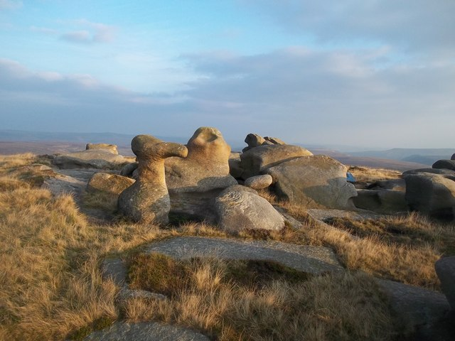The Bleaklow Stones at Dusk
