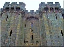 TQ7825 : Bodiam Castle, Coat of Arms by Len Williams