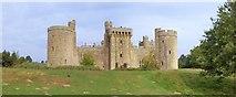 TQ7825 : Bodiam Castle, Moat Wall by Len Williams