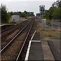 SJ3033 : Towards the former Oswestry junction from Gobowen by Jaggery