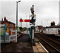 SJ3033 : Semaphore signal GN4 at Gobowen railway station by Jaggery