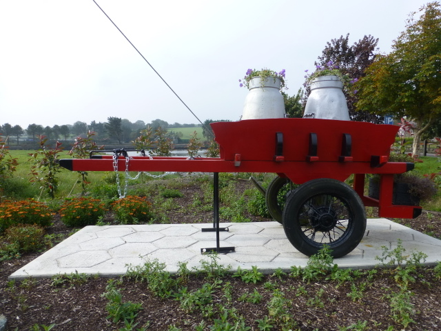 Cart with creamery cans, Clonakilty