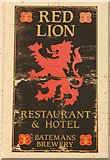 TF4382 : The sign of The Red Lion by Richard Croft