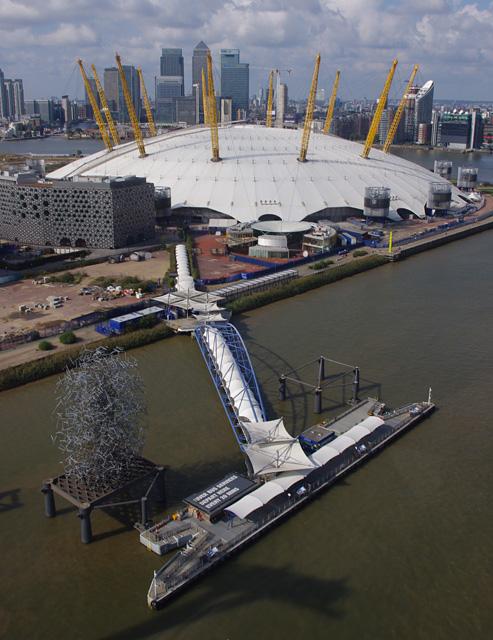 O2 Arena and QE2 Pier
