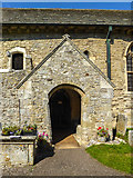 SY1988 : Entrance to St Winifred's Church, Branscombe, Devon by Christine Matthews