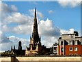 SJ8298 : Salford Cathedral from Salford Central Station by Gerald England
