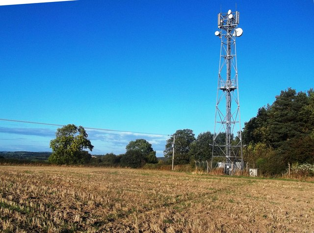 Track and Communications Mast near Brailsford