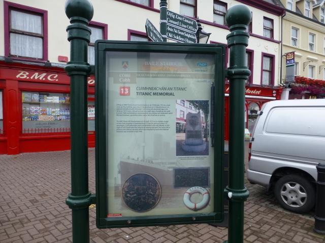 Titanic Memorial Information Board, Cobh