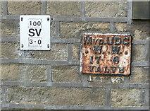 SE0125 : Mytholmroyd UDC WW valve marker plate, Hall Bank Lane by Humphrey Bolton