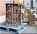 J3474 : Albion Foundry turnstiles, Belfast - September 2014(1) by Albert Bridge